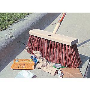 "Rubbermaid Palmyra Push Broom, Block Size 16"", Hardwood Block Material"