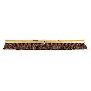 "Rubbermaid Palmyra Push Broom, Block Size 36"", Hardwood Block Material"