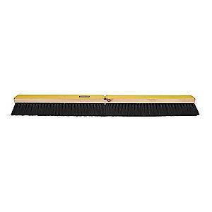 "Rubbermaid Tampico Push Broom, Block Size 36"", Hardwood Block Material"