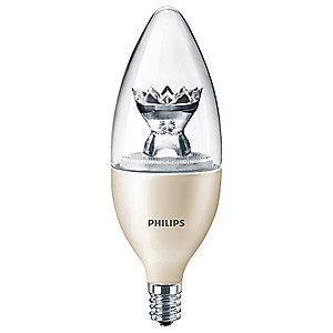 Philips 2.7 Watts LED Lamp, B12, Candelabra Screw (E12), 180 Lumens, 2200-2700K