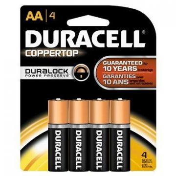 "Duracell 4-Pack  ""AA"" Alkaline Batteries"