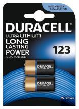 Duracell Ultra 3V Lithium 123 Camera Batteries, 2 Pack