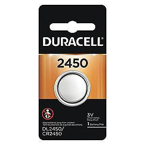 Duracell Lithium Coin Cell, Voltage 3, Battery Size 2450, 1 EA