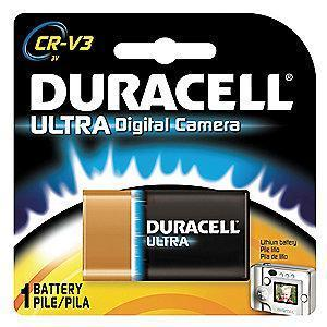 Duracell Lithium Battery, Voltage 3, Battery Size CRV3, 1 EA