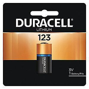 Duracell Lithium Battery, Voltage 3, Battery Size 123, 1 EA