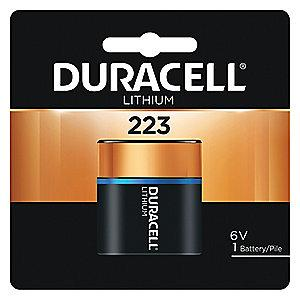 Duracell Lithium Battery, Voltage 6, Battery Size 223, 1 EA