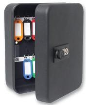 Sterling 20-Hook Combination Key Cabinet Safe Matt Black