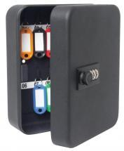 Sterling 36-Hook Combination Key Cabinet Safe Matt Black