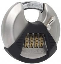 Sterling Stainless Steel Disc Combination Padlock 70mm 4-Dial