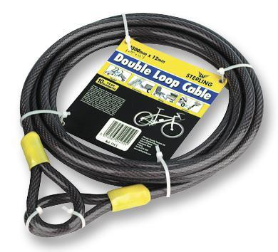 Sterling 12mm x 9m Double Loop Security Cable