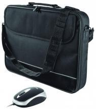 "Trust 15-16"" Laptop Bag with Retractable Mouse, Black"