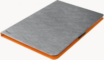 "Trust Aeroo Ultra Thin Folio Stand for 10"" Tablets - Grey/Orange"