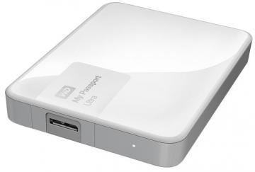 WD My Passport Ultra USB 3.0 Portable Hard Drive, White - 2TB