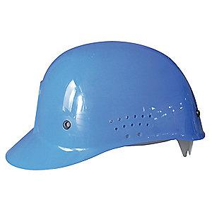 Condor Blue Polyethylene Bump Cap, Perforated Sides, Fits Hat Size: 6.5 to 7.5