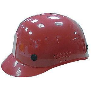 Condor Red Polyethylene Bump Cap, Perforated Sides, Fits Hat Size: 6.5 to 7.5