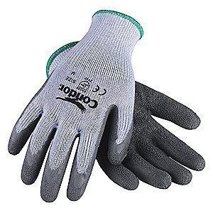 Condor Natural Rubber Latex Cut Resistant Gloves, Cut Level 2,Gray, XL, PR 1