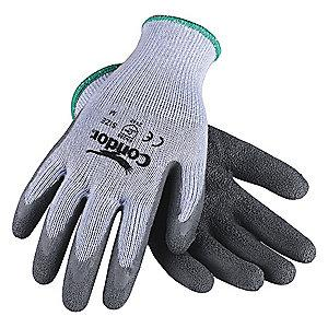 Condor Natural Rubber Latex Cut Resistant Gloves, Cut Level 2,Gray, S, PR 1