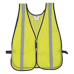 Condor Yellow/Green with Silver Stripe High Visibility Vest, Hook-and-Loop