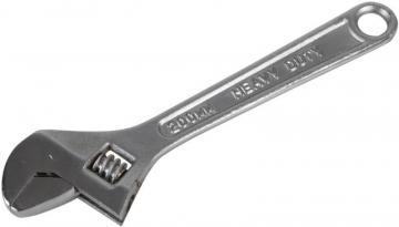 "Duratool 8"" (200mm) Chrome Finish Adjustable Spanner"
