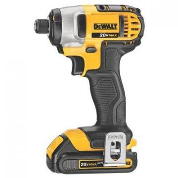 DeWalt Compact Cordless Impact Driver Kit, 20-Volt Lithium Ion Batteries, 1/4""