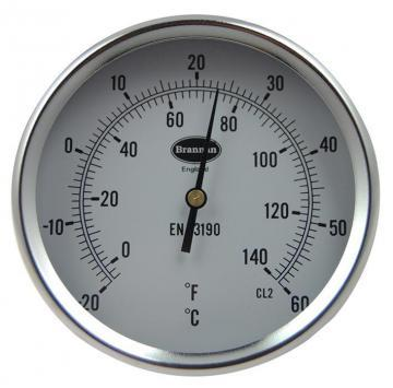 Brannan Direct Mounting Dial Thermometer with -20°C to +60°C Temperature Range