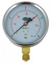 Brannan Pressure Gauge with 100mm Dial & 0bar to 4bar Measuring Range