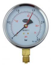 Brannan Pressure Gauge with 100mm Dial & 0bar to 2.5bar Measuring Range
