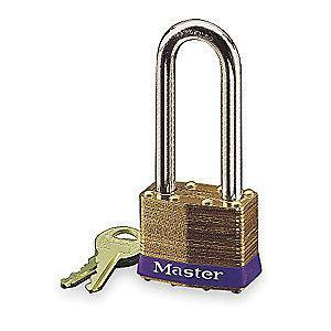 "Master Lock Open Shackle Keyed Padlock, 2-1/2"" Shackle Height, Silver"