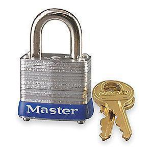 "Master Lock Open Shackle Keyed Padlock, 9/16"" Shackle Height, Silver"