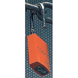 Master Lock Orange Lockout Padlock, Alike Key Type, Aluminum Body Material