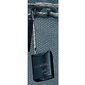 Master Lock Black Lockout Padlock, Alike Key Type, Aluminum Body Material