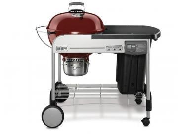 "Weber 22"" Performer Deluxe Charcoal BBQ in Crimson"