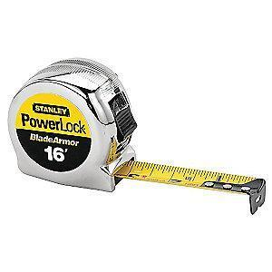 Stanley 16 ft. Steel SAE Tape Measure, Black/Yellow