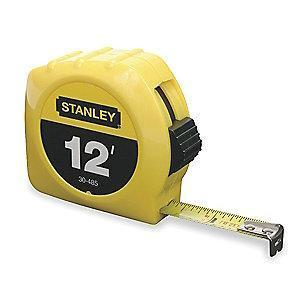 Stanley 12 ft. Steel SAE Tape Measure, Yellow