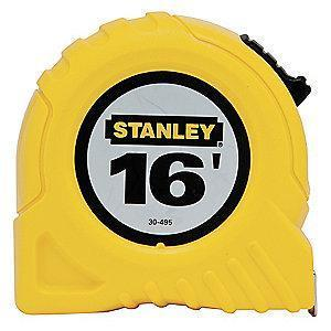 Stanley 16 ft. Steel SAE Tape Measure, Yellow