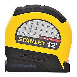 Stanley 12 ft. Steel SAE Tape Measure, Black/Yellow