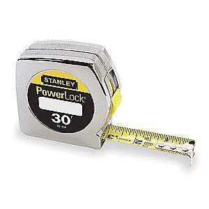 Stanley 30 ft. Steel SAE Tape Measure, Chrome