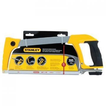 Stanley High-Tension Hacksaw, Soft-Grip Handle, 12-In.