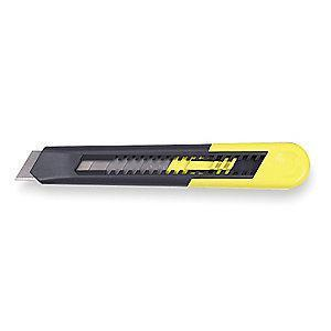 "Stanley 18mm Snap-Off Utility Knife,6-1/2"" Overall Length"