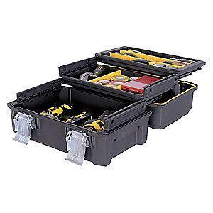 Stanley Structural Foam Portable Tool Box, 2075 cu. in., Black