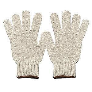 Condor Natural Knit Gloves, Polyester/Cotton, Size S, 7 Gauge