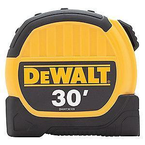 DeWalt 30 ft. Steel SAE Tape Measure, Yellow/Black