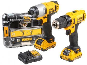 DeWalt 10.8V 2.0Ah Li-Ion Drill Driver & Impact XR Twin Pack Tstak V Kit Box