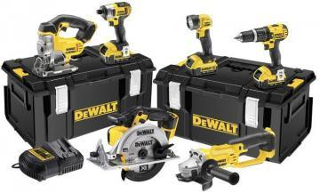 DeWalt 18V 4.0Ah Li-Ion XR 6-Piece Cordless Power Tool Kit 2x Tough System