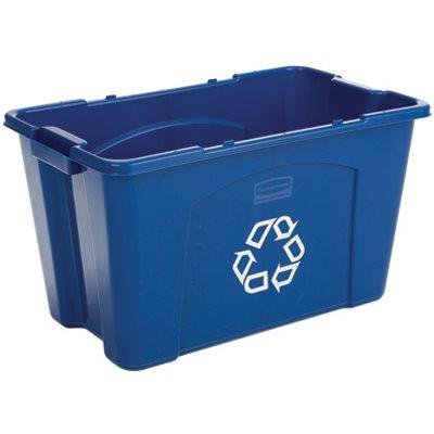 Rubbermaid Recycling Box, 18-Gals.