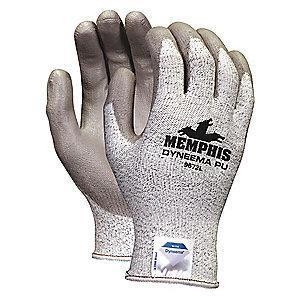 MCR Cut Resistant Gloves, Cut Level A3 Lining, Gray/Salt and Pepper, M