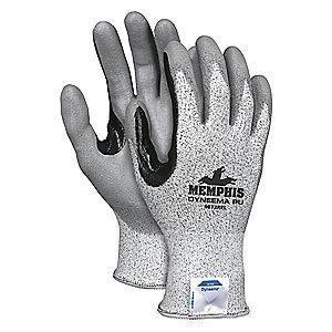 MCR Cut Resistant Gloves, Cut Level A2 Lining, Gray/Salt and Pepper, S