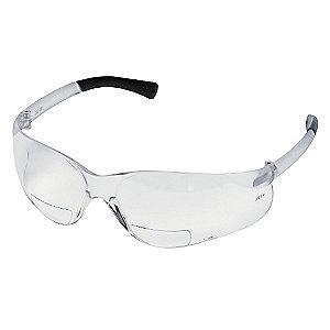 MCR Clear Scratch-Resistant Bifocal Safety Reading Glasses, +2.0 Diopter