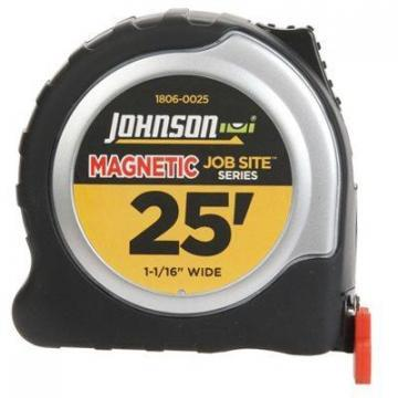 Johnson Job Site Power Tape Measure, Magnetic Tip, 1-1/16 In. x 25-Ft.