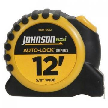 "Johnson Auto-Lock Power Tape Measure, Rubberized Case, 5/8"" x 12-Ft."